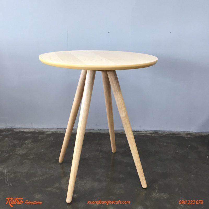 Bàn ghế cafe gỗ tròn