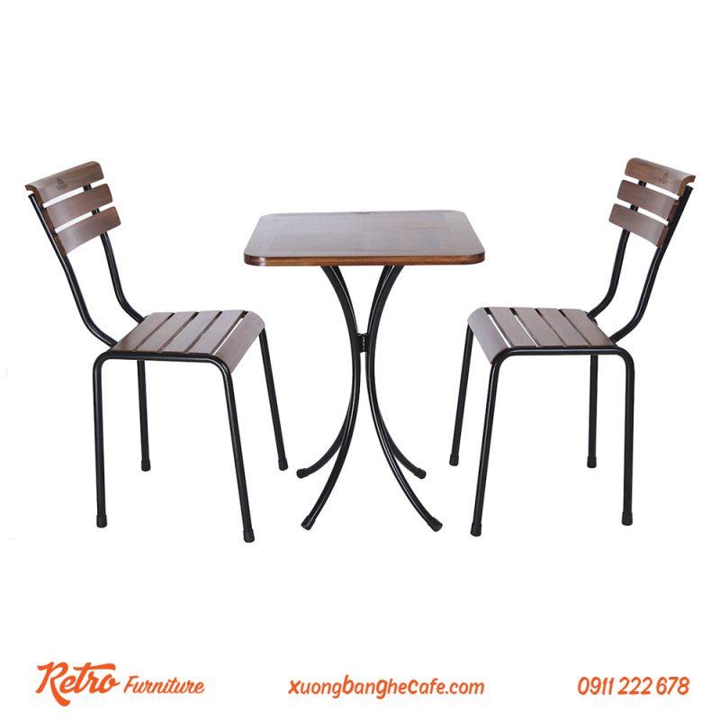 Bàn ghế quán cafe sân vườn R03 - 1 bàn 2 ghế