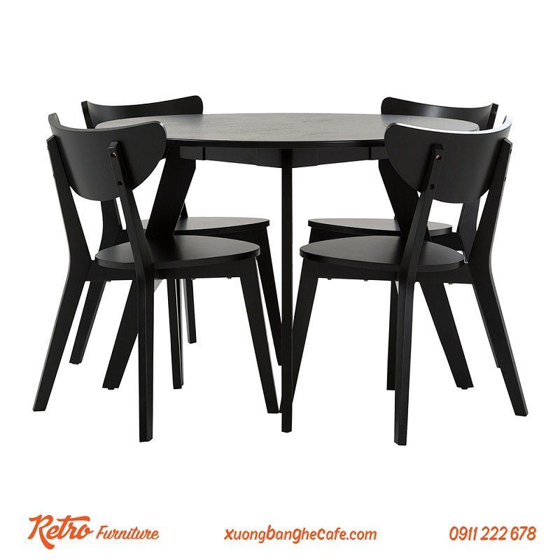 Bộ Bàn ghế gỗ Cafe R01
