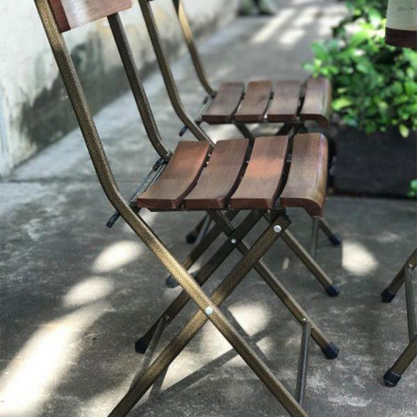 Bộ bàn ghế xếp quán cafe sân vườn R08