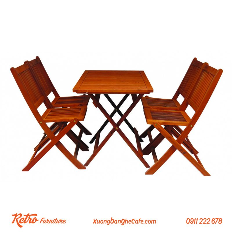 Bàn ghế xếp cafe giá rẻ R04 loại mini